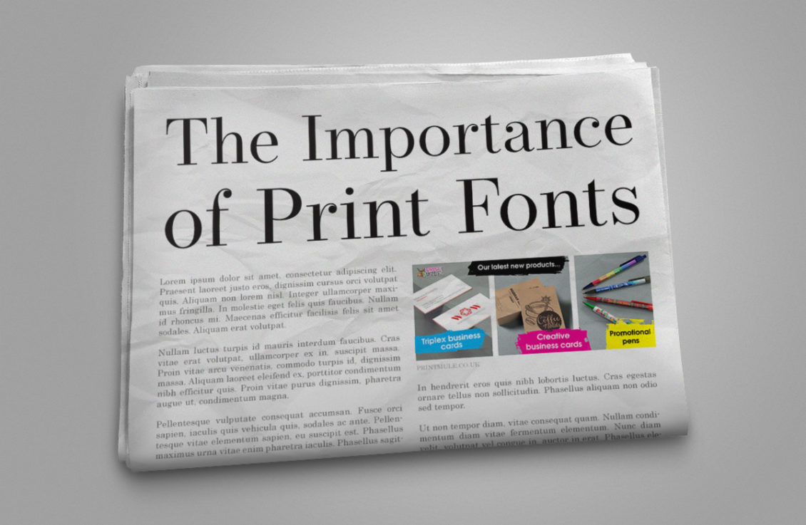 The Importance of Print Fonts